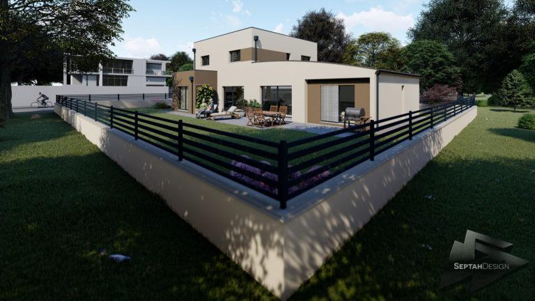 Plans 3D de maison visuels en 3D